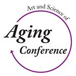 Art and Science of Aging Conference with purple circle arrow